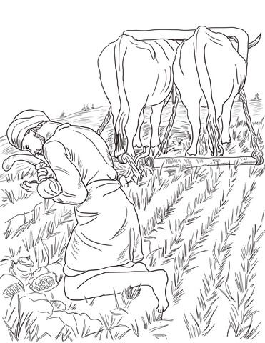 Parable Of The Hidden Treasure Coloring Page From Jesus Parables Category Select 22052