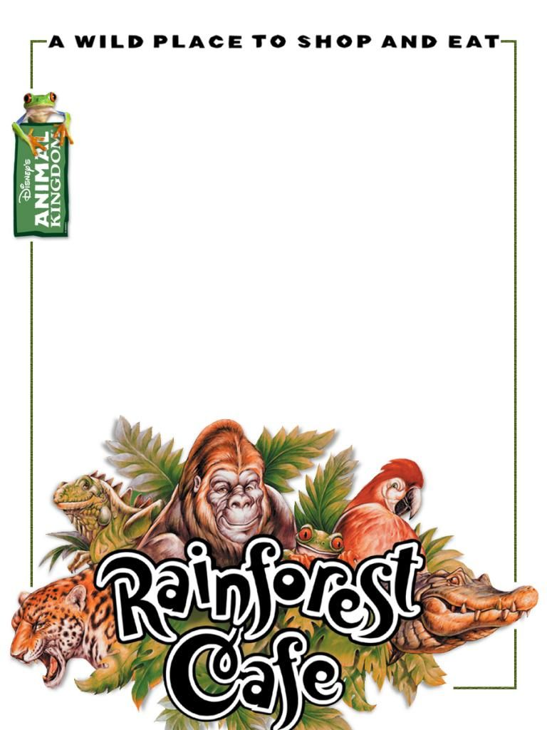 Journal Card Rainforest Cafe Animal Kingdom 3x4 Disney Project Life Rainforest Cafe Disney Scrapbook