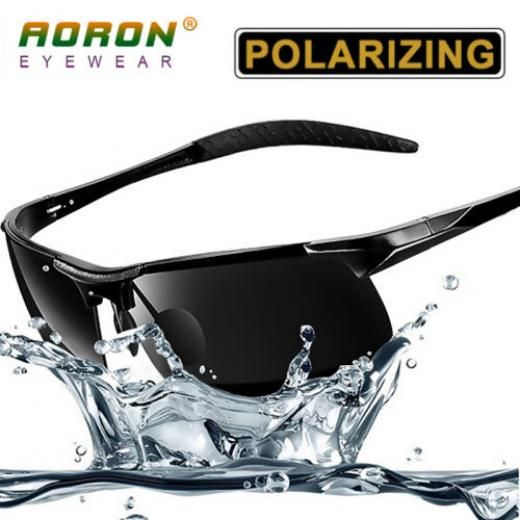 d361f2fee7 Aoron New Men Outdoor Sports Polarized Sunglasses Driving Glasses Eyewear Hd  Lens 8177 Aviator Black