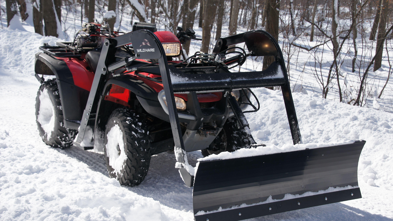 Atv 57 Snow Plow Blade Attachment Wild Hare Atv Implement System
