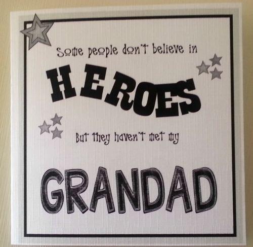 Personalised Handmade Birthday Card Daddy Dad Papa Grandad Gramp Best Friends