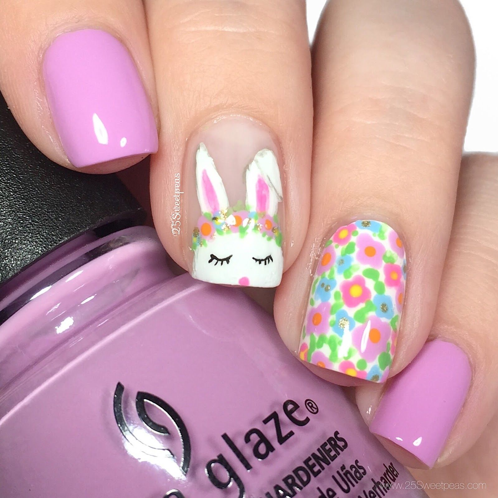 Bunny Nail Art - How To : Spring Nails With A Bunny Easter Pinterest Bunny