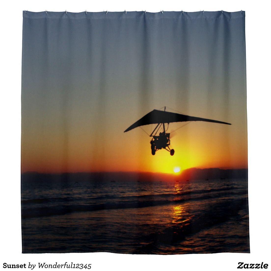 #Sunset Shower Curtain
