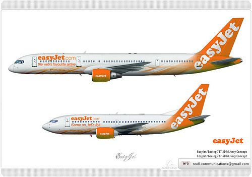 Easyjet Livery Concept Planes Aircraft Airplane Aviation