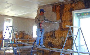 Incredible Pictures Of Straw Bale House Construction Part 4 Shooting Lime Wiring Digital Resources Jebrpcompassionincorg