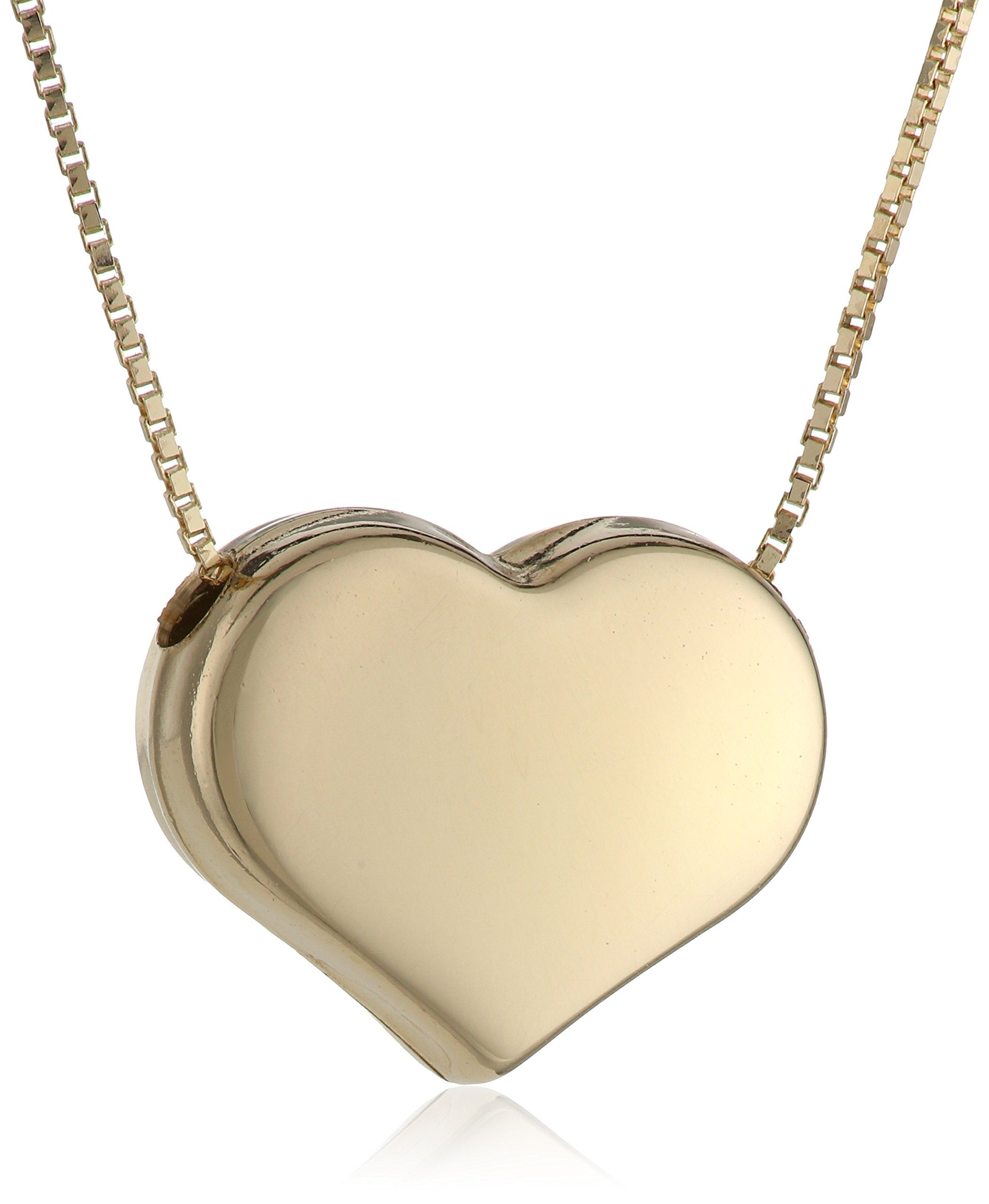 gold chains heart necklace anatomical silver charm