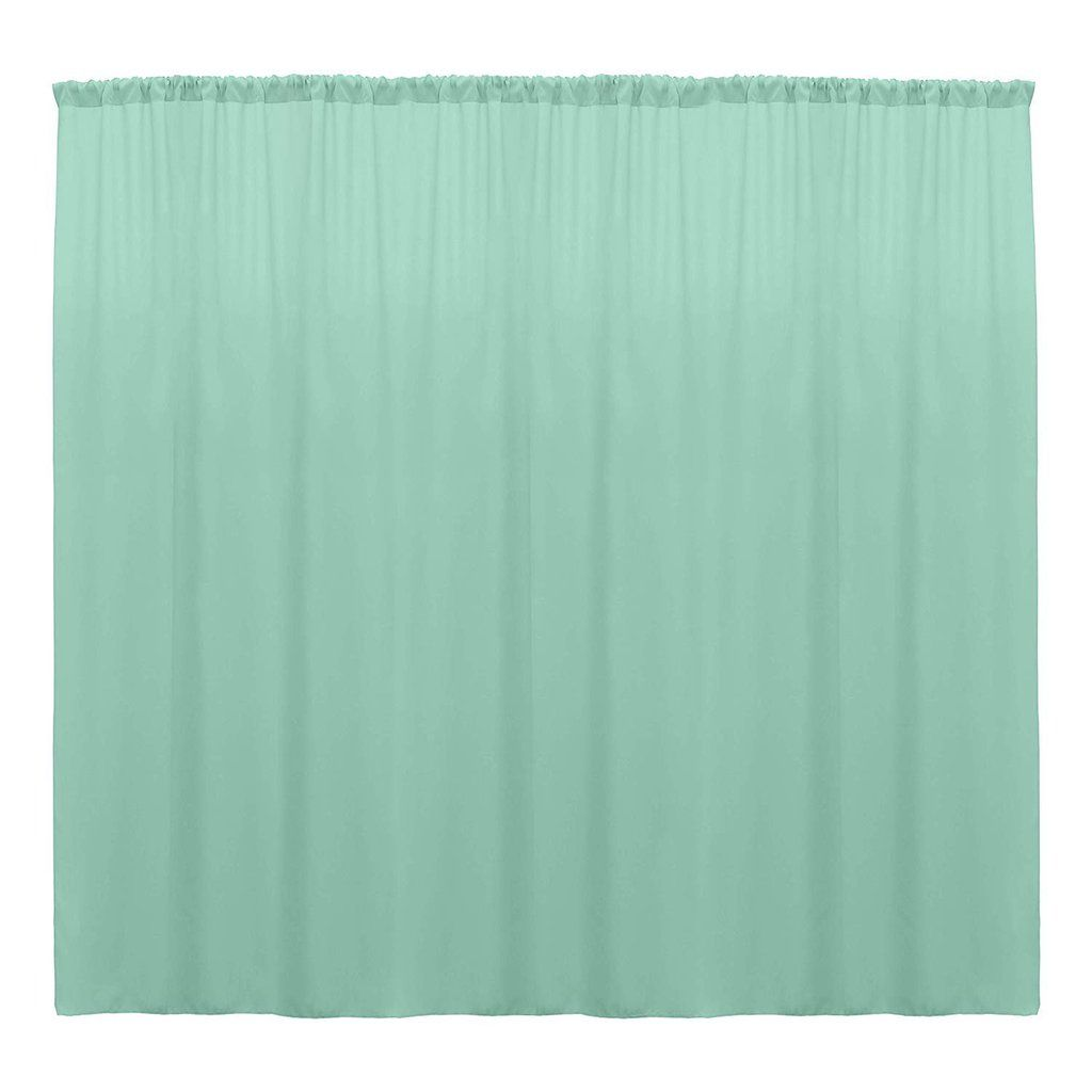 10 X 10 Ft Mint Curtain Polyester Backdrop Drapes Panels With Rod Pocket Mint Curtains Drape Panel Curtains