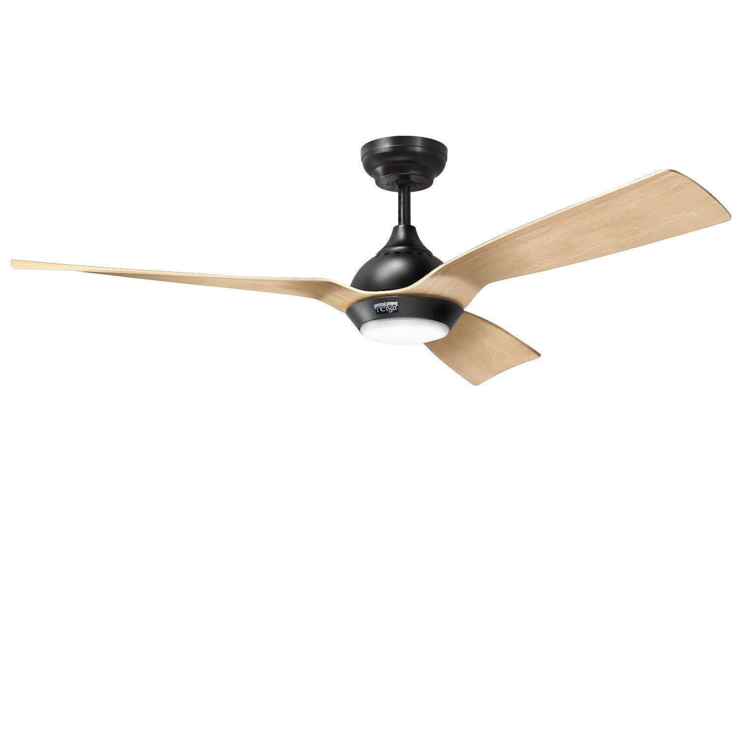 Reiga 52 Inch Downrod Mount Ceiling Fan With Light Remote 3 Hand Painted Blade Suit For Indoor Ou Ceiling Fan Ceiling Fan With Remote Ceiling Fan With Light