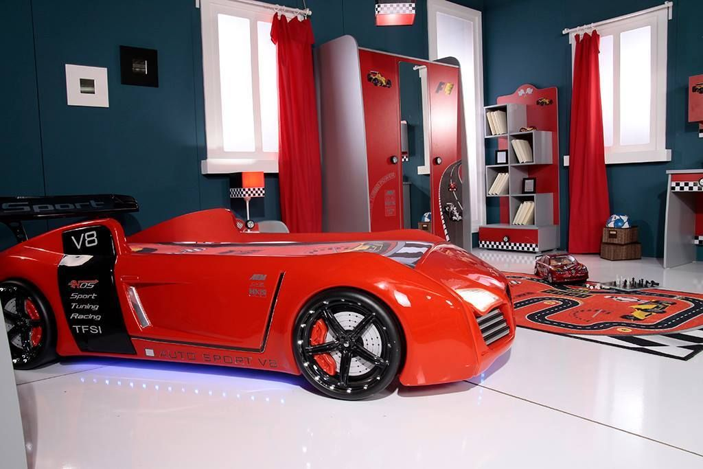 Kids Room With Awesome Audi V8 Car Bed Http Www Supercarbeds