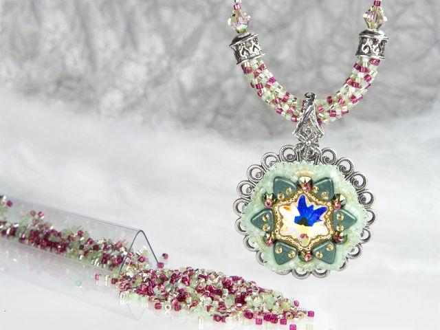 Forest Frost Necklace - use necklace as a bracelet
