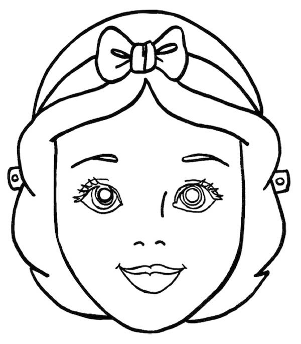 Snow White Mask Coloring Pages Halloween Masks Printable Masks