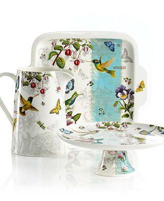 Portmeirion Serveware Botanic Hummingbird Collection