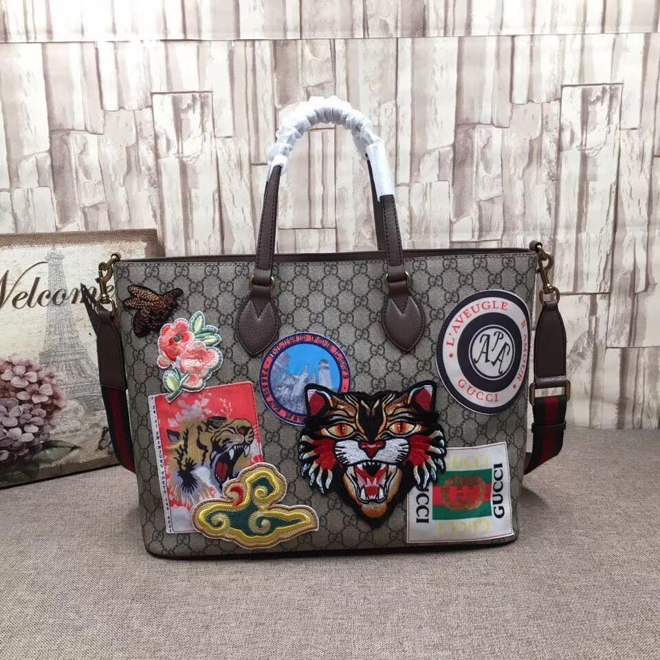 d99784a77d8 Gucci 474085 Courrier Soft GG Supreme Tote Bag 2017