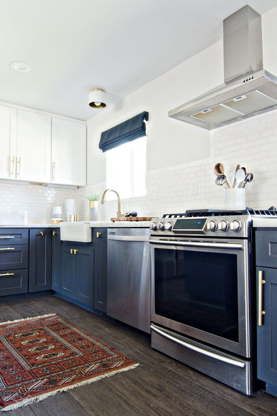 navy & white kitchen reveal | brittanyMakes