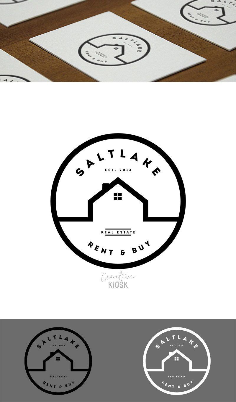 Real estate business logo modern realtor logo simple for Modern house logo