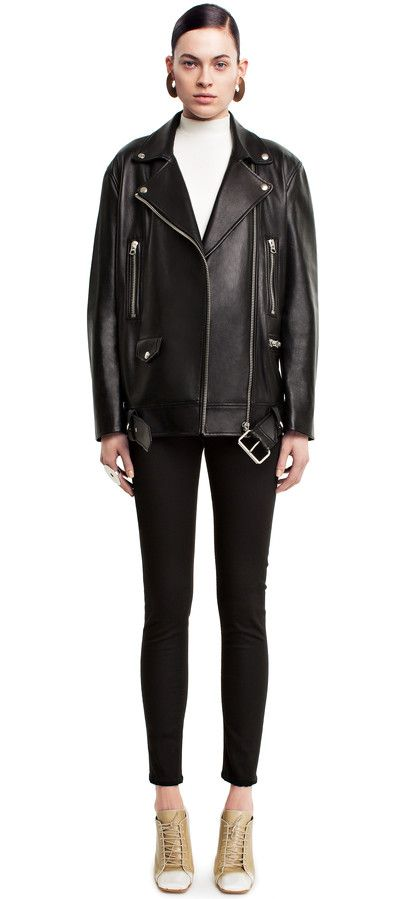 Acne Studios   More Black oversized motorcycle jacket   ¡Dream ... 3b2bac4f9f4
