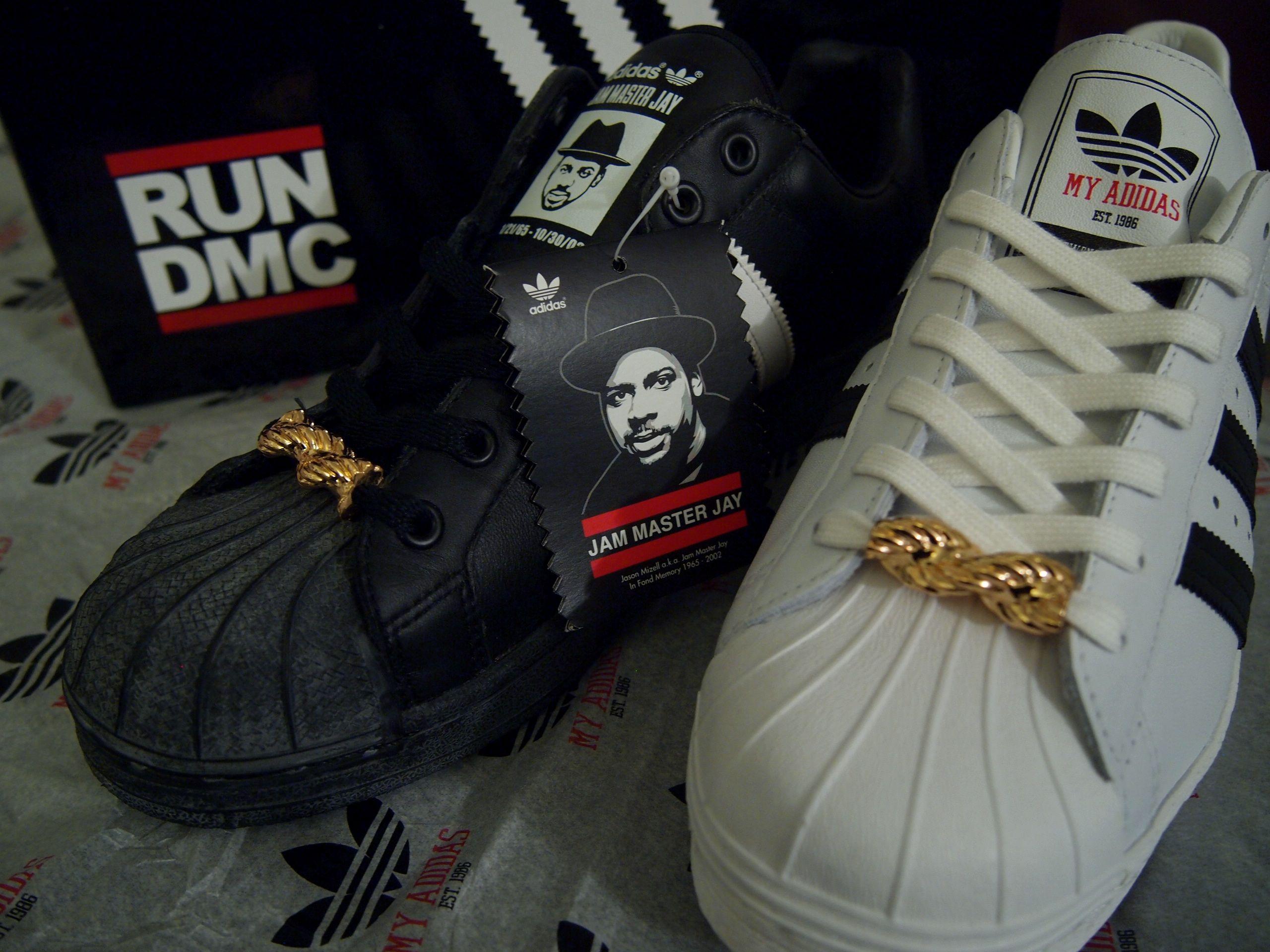25th anniversary edition Jam Master J(Run Dmc) Adidas Shell Toe