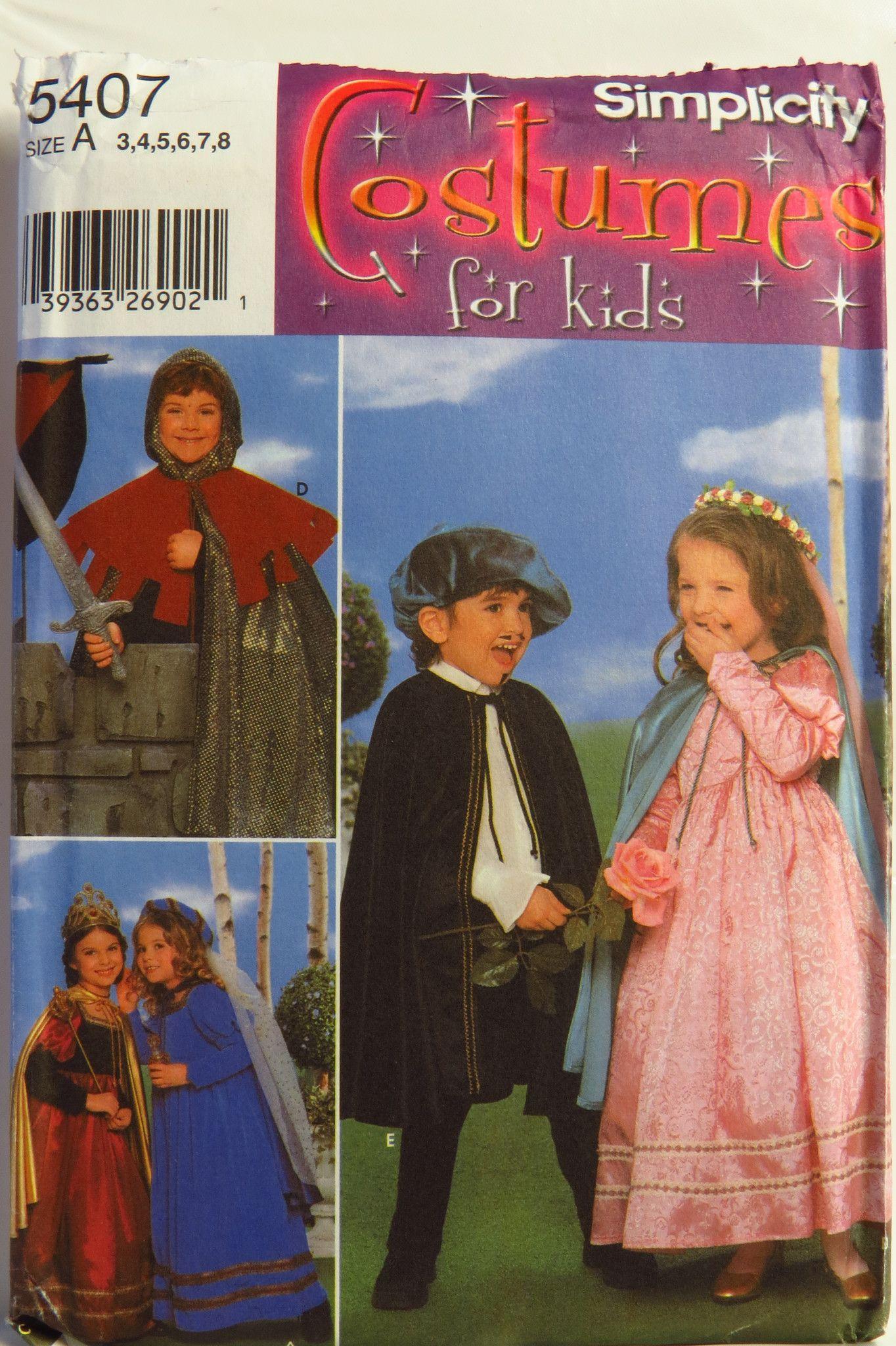 Simplicity 5407 Child's Costumes