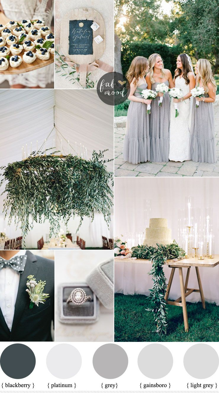 Grey Wedding Colour Schemes Shades Of Theme For Outdoor Summer Fabmood