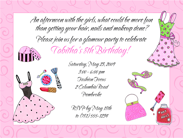 Glamour girl makeup dress up birthday party invitations 100 each glamour girl makeup dress up birthday party invitations 100 each http stopboris