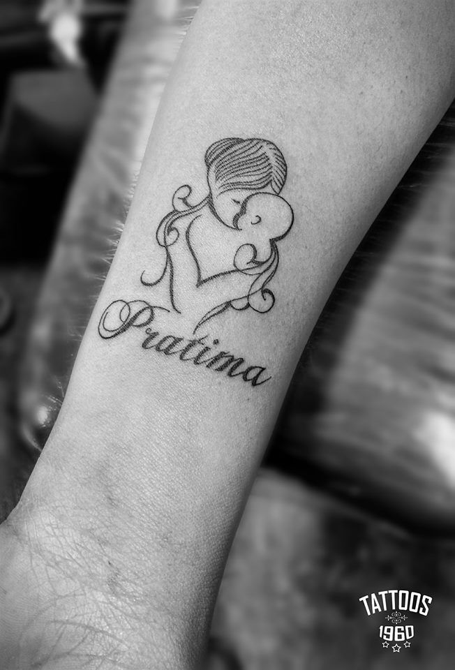 Mom Daughter Tattoo Family Love Abstract Black And White Tattoos For Daughters Mom Daughter Tattoos Tattoos