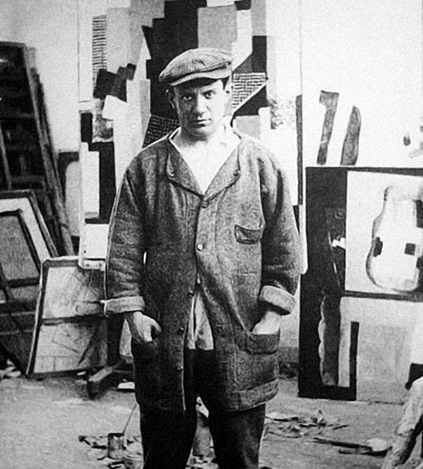 Pablo Picasso. Photograph 1916. Image Source. Pablo