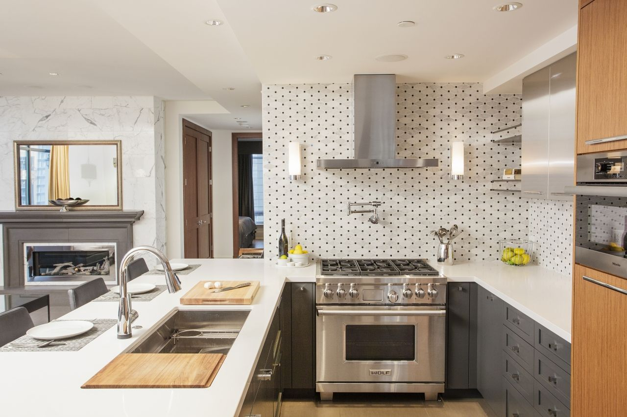 The 1800 sq.ft. apartment was completely gutted to the ...