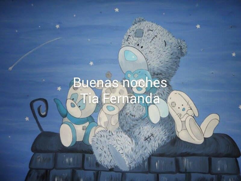 YOLO: BUENAS NOCHES TIA FERNANDA