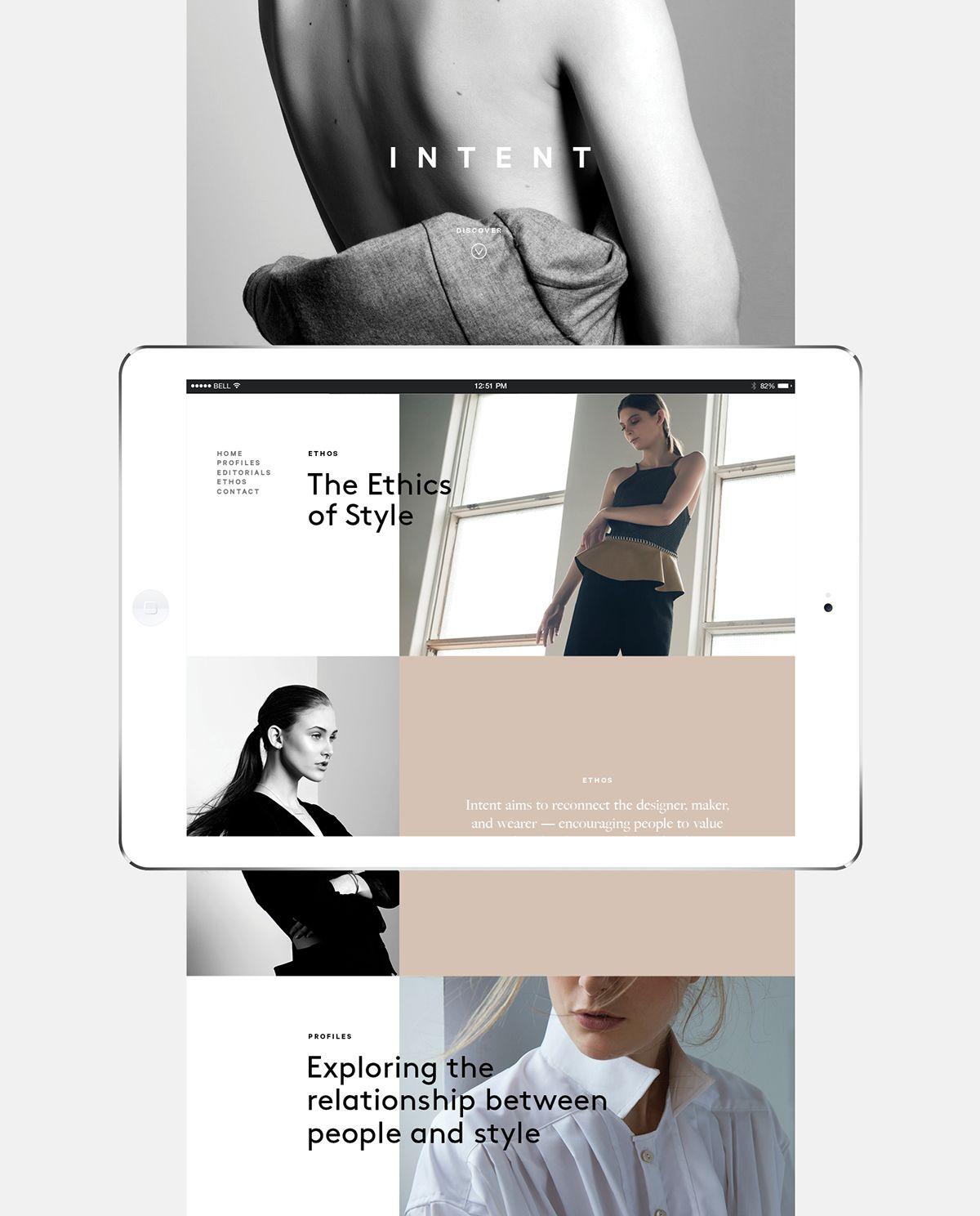 Intent Journal website on Behance