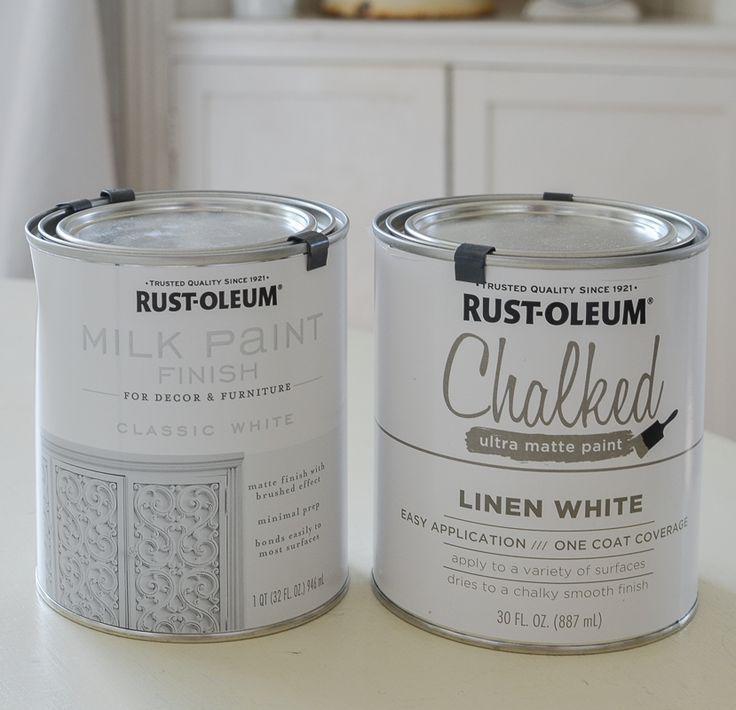 Rust-Oleum Milk Paint vs Chalked Paint   Milk paint, Milk ...