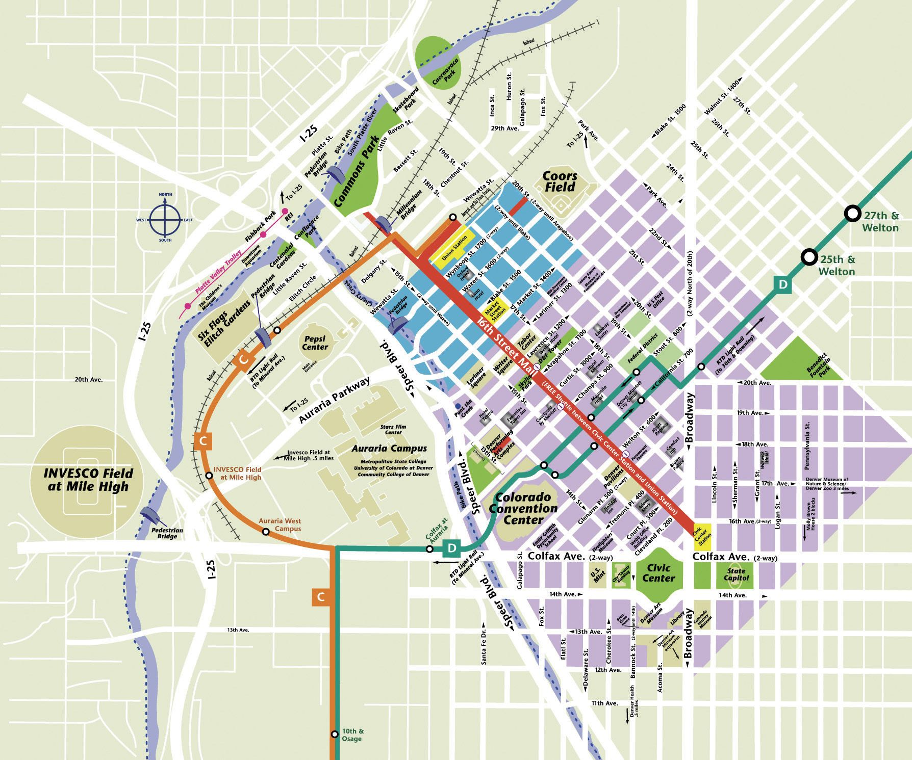 This large map of downtown Indianapolis may take a moment to load