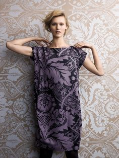 Purple wallpaper print dress - ornate pattern fashion // Marimekko