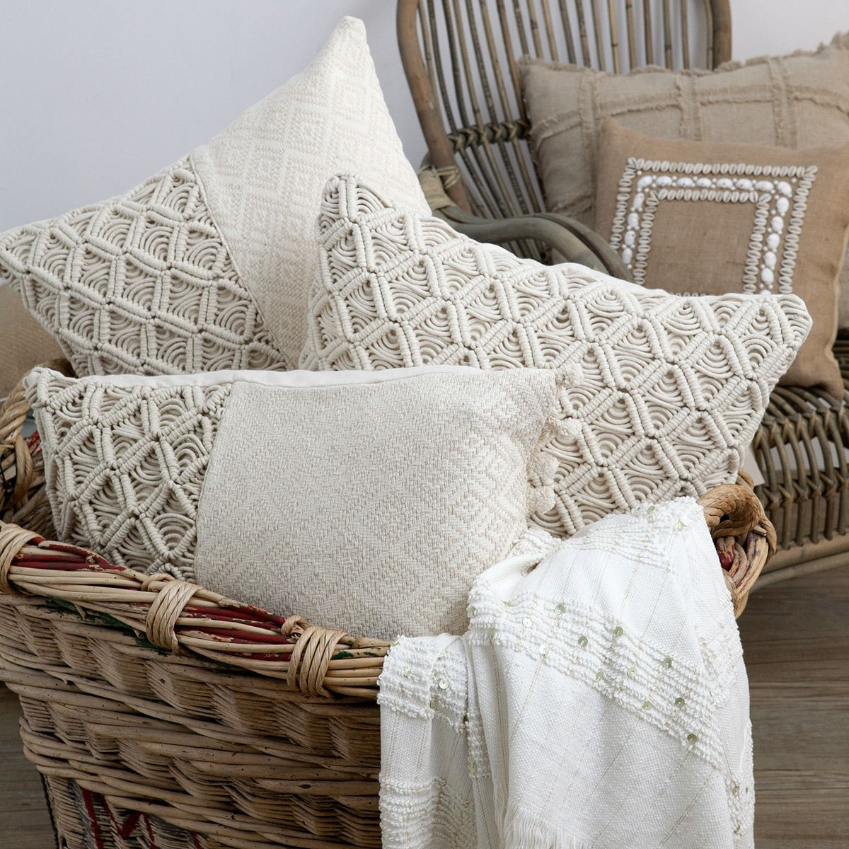New Macrame Cushions Tribal Luxe Pinterest Macrame