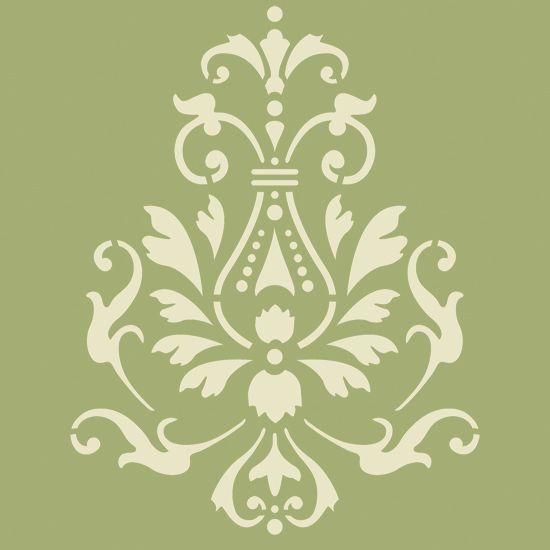Use this Georginian Accent Painting Stencil to embellish walls in ...