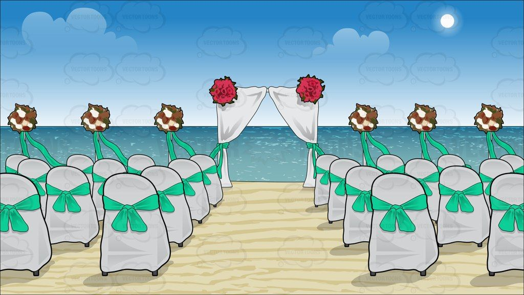 Chairs and a canopy set up for a beach wedding background ...