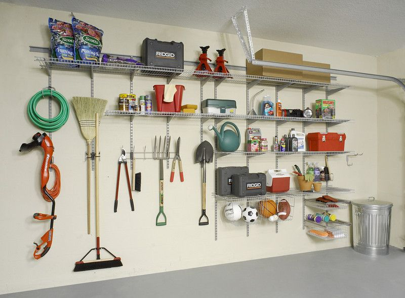 Turn A Garage Wall Into An Organized Center For Tools Gardening
