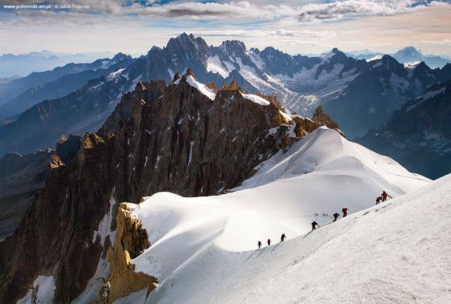 La travesía de los alpinistas