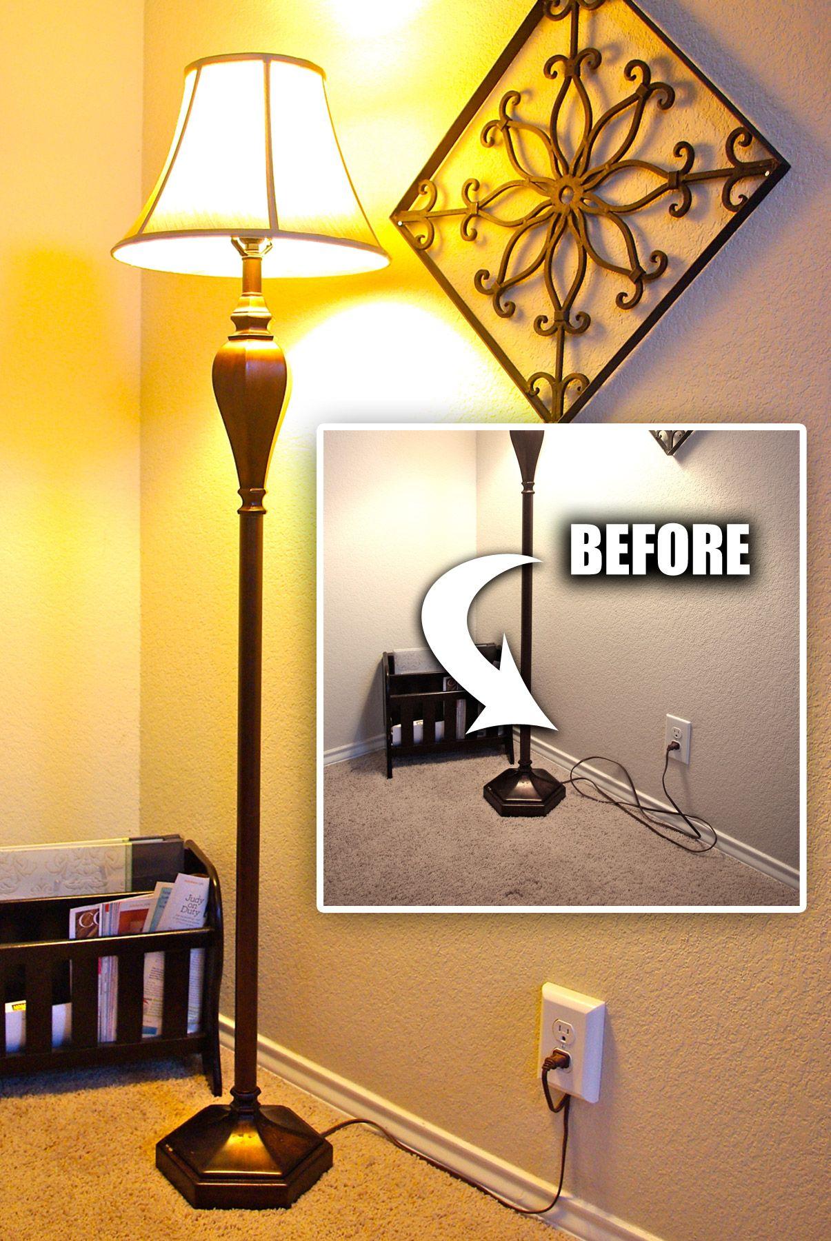 The Cordini Hide Cords On Wall Lamp Cord Diy Flooring