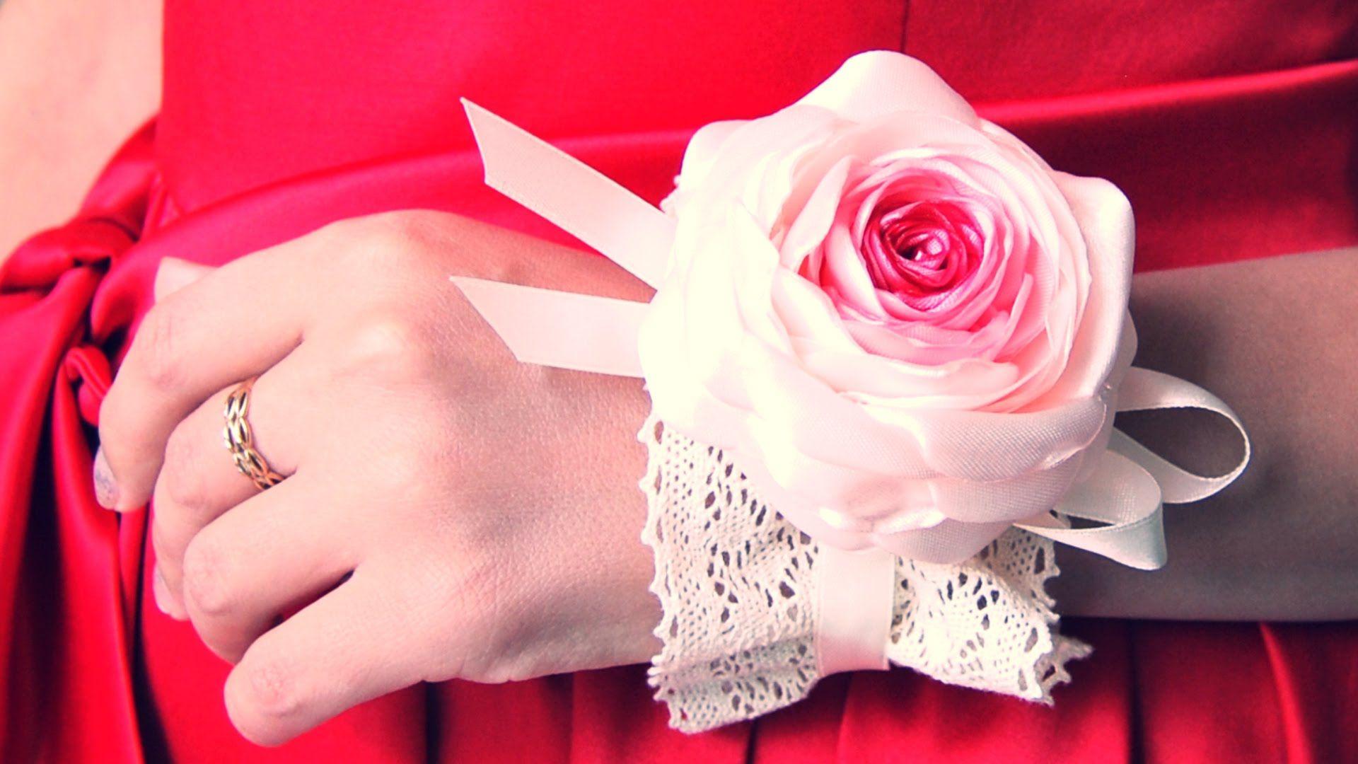Браслеты из цветов и лент своими руками фото 232