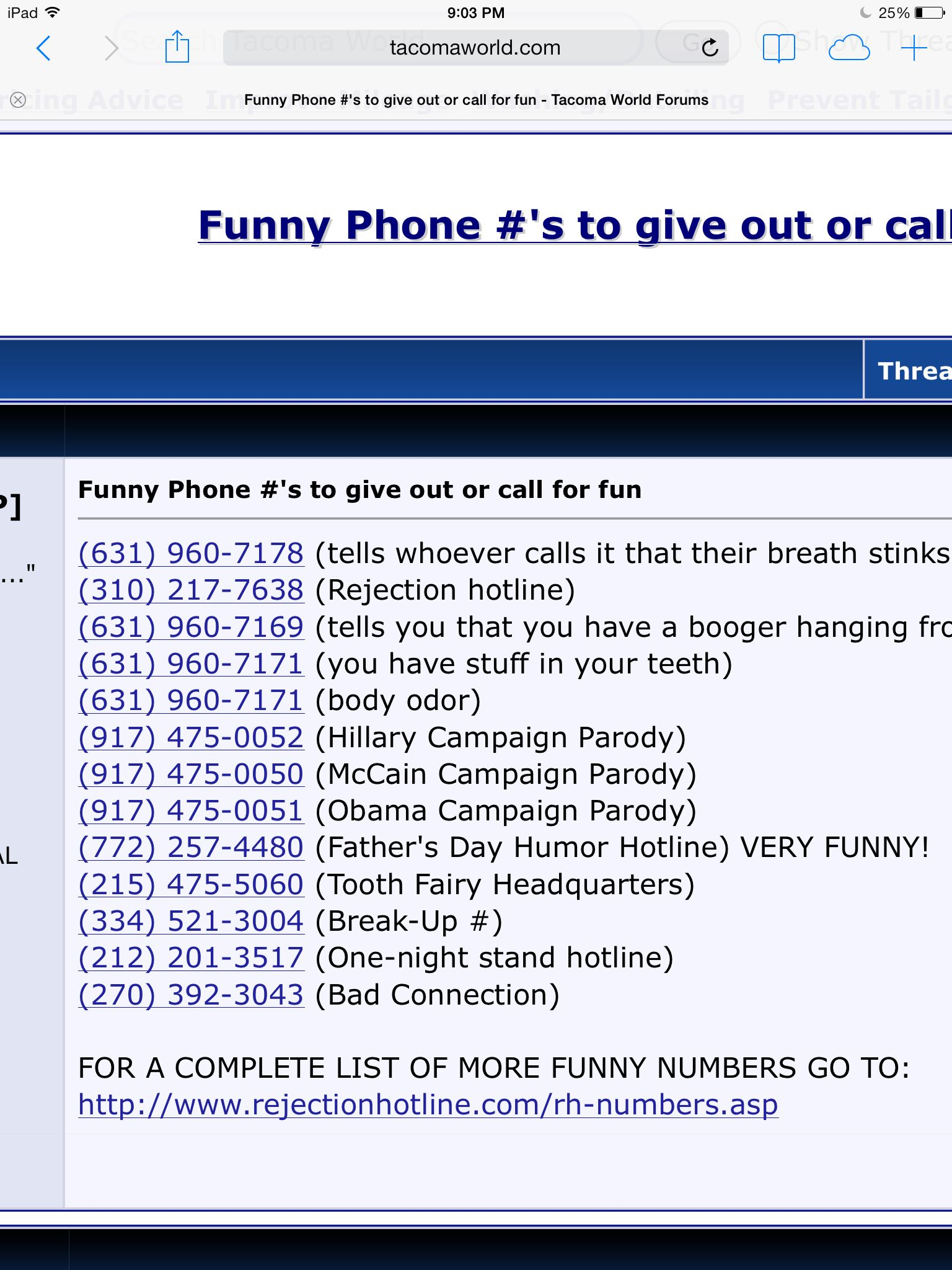 Top 10 funny numbers to call when you are bored and stuck
