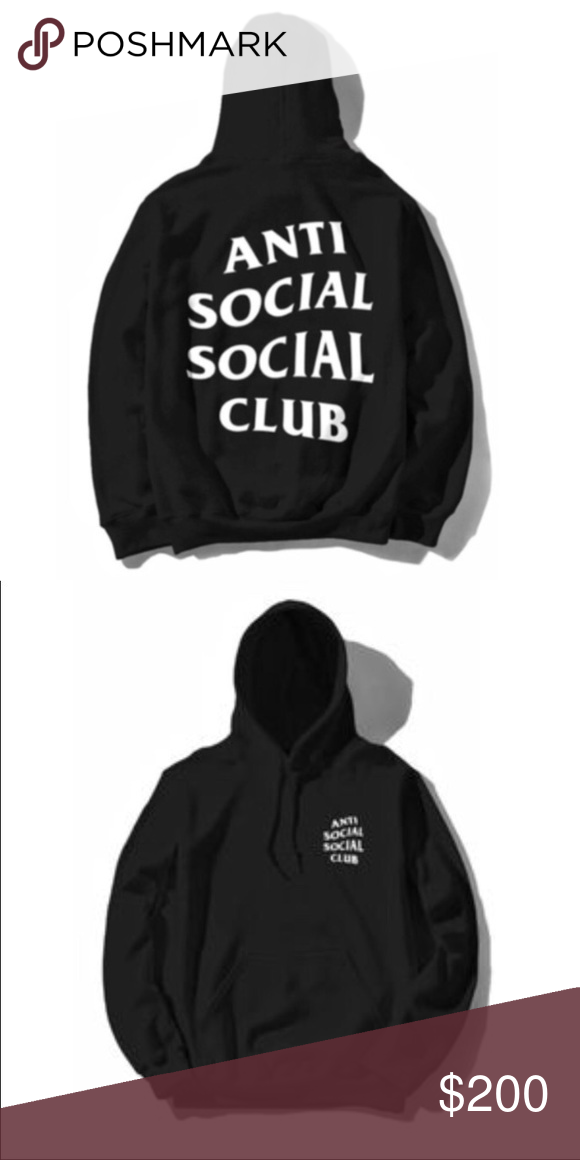 942d525fe5b3  Large Anti Social Social Club Hoodie 100% Authentic Anti Social Social Club  Hoodie