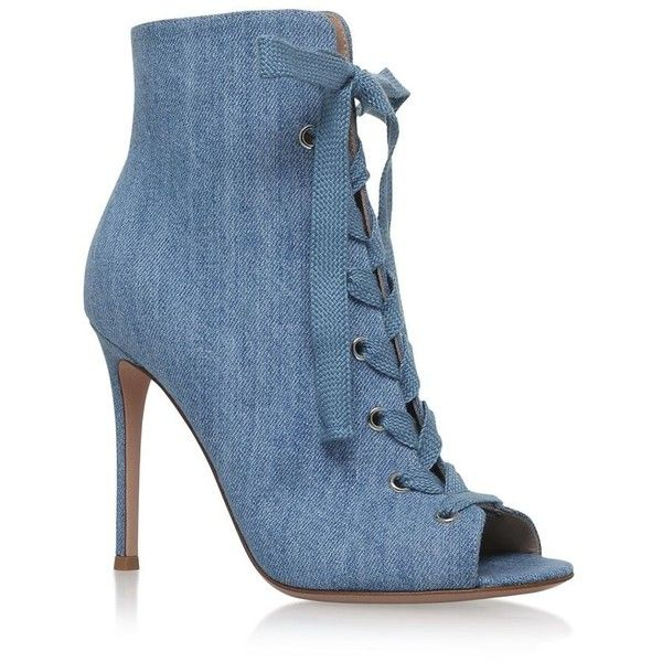 3a209b30c4b4 Gianvito Rossi Marie Denim Ankle Boots 105 ( 870) ❤ liked on Polyvore  featuring shoes