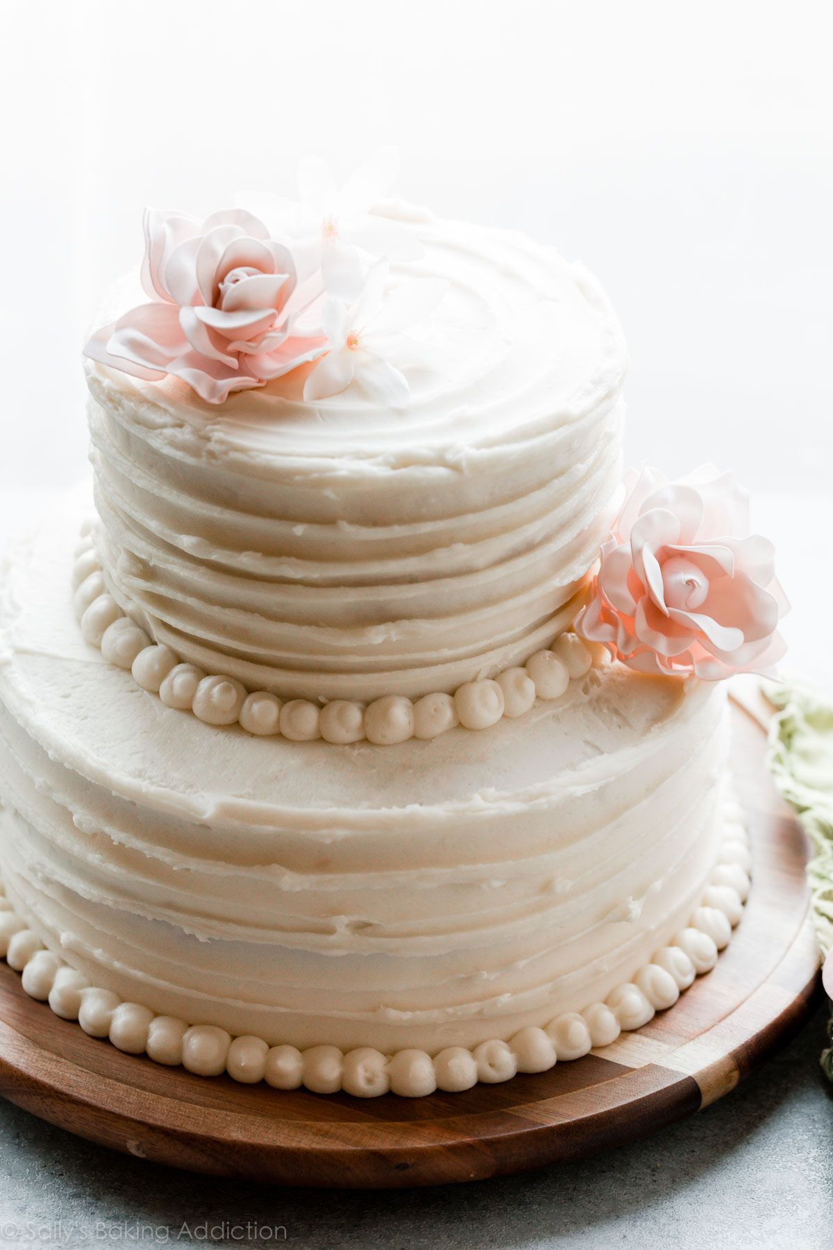 How To Make A Homemade Diy 2 Tier Wedding Cake With Full Recipe