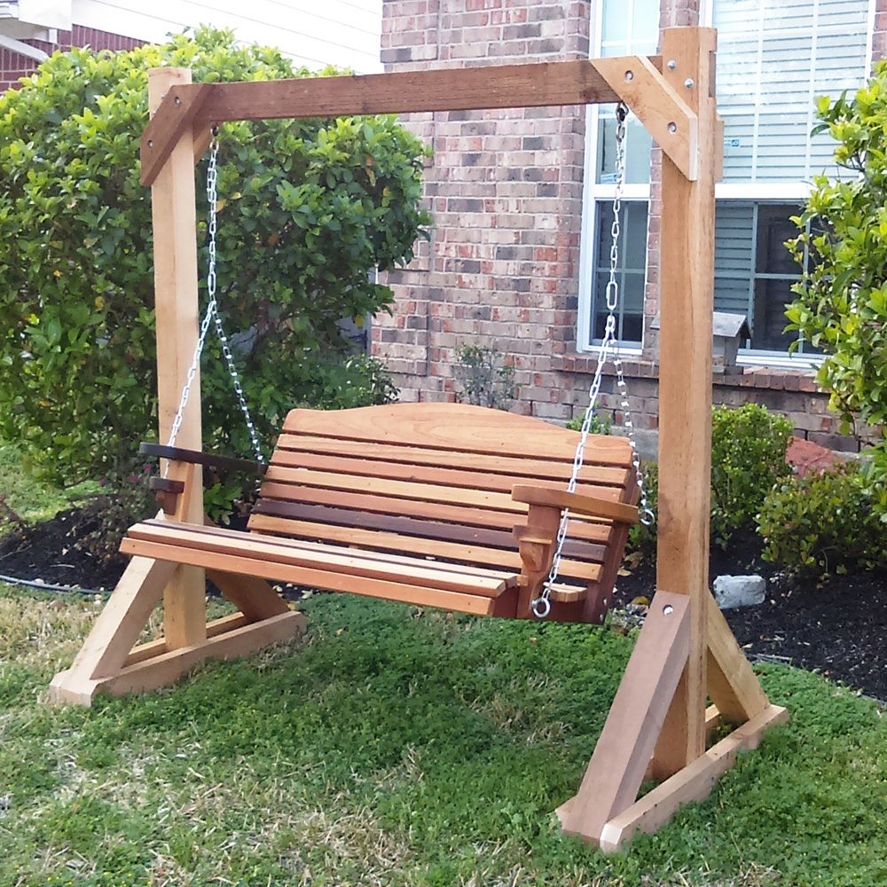 alone porch outdoor swing petts good plans stand club s frame