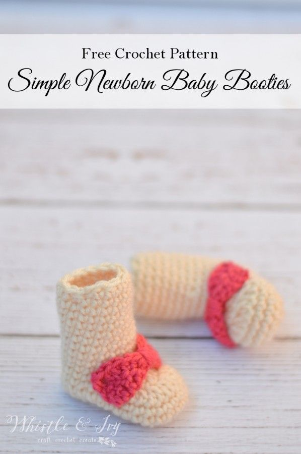 Crochet Newborn Booties For Baby Free Crochet Pattern All Things
