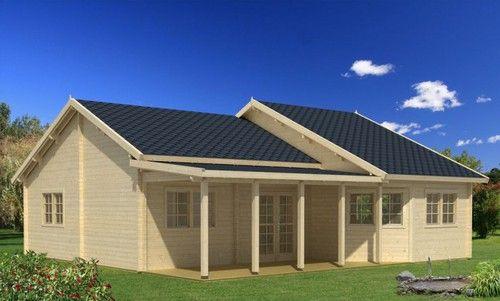 Blockhaus Modell Vigo Haus, Gartenhaus farbe und Doppeltüren