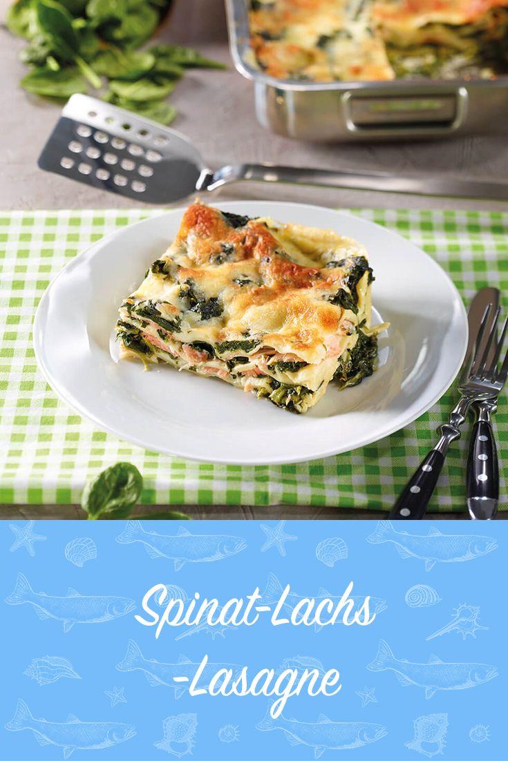 Spinat-Lachs-Lasagne Rezept - leckere Rezepte bei |real.de #spinatlasagne