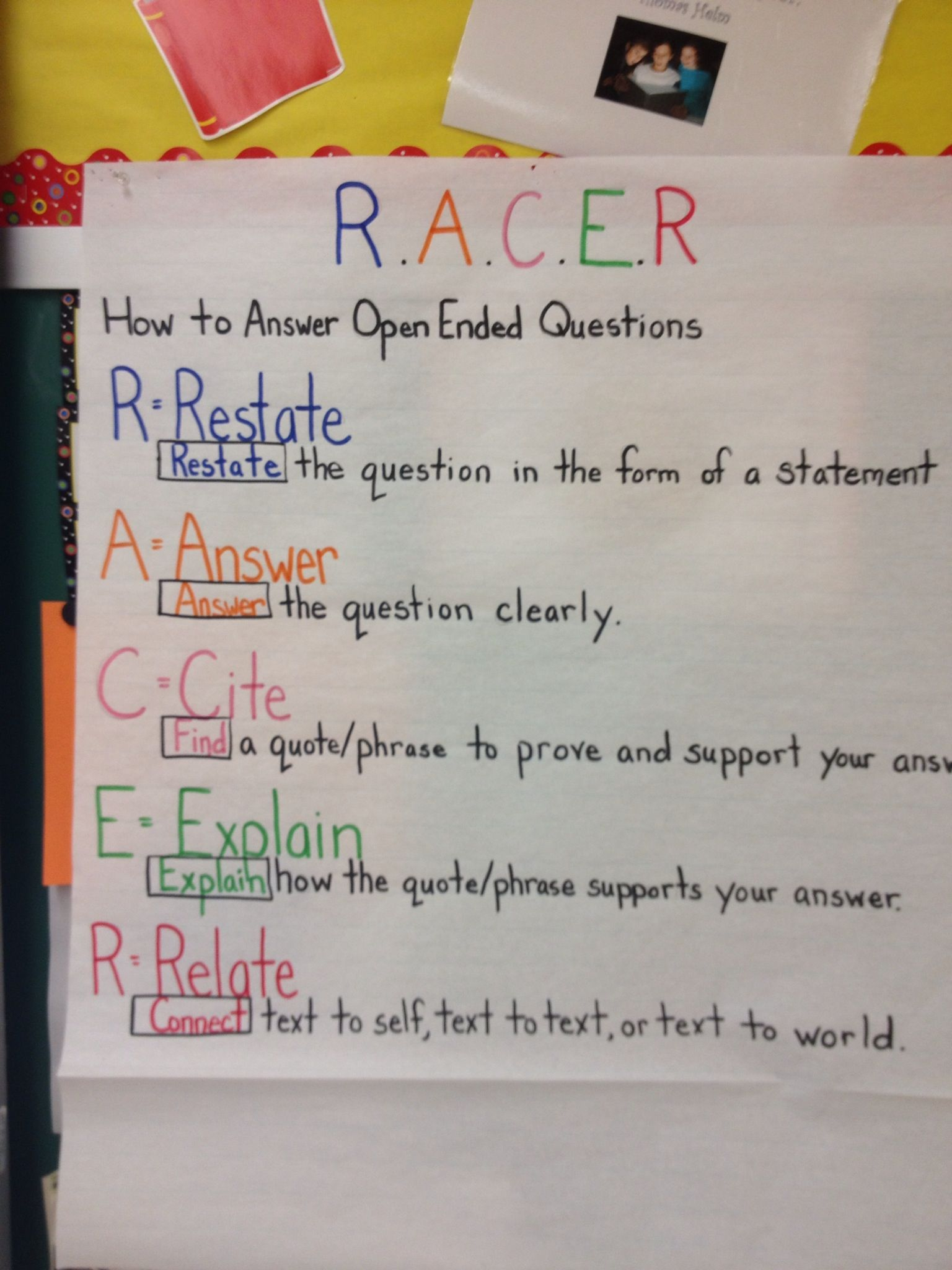My Racer Anchor Chart Reading Anchor Charts Anchor Charts Middle School Reading [ 2048 x 1536 Pixel ]