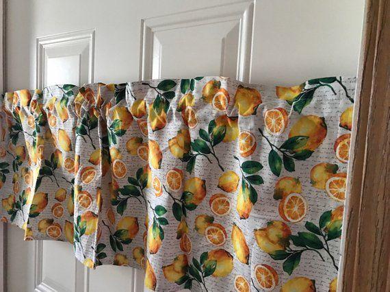 Oranges Fruit Kitchen Curtain Valance Curtains Lighting Fixtures Light