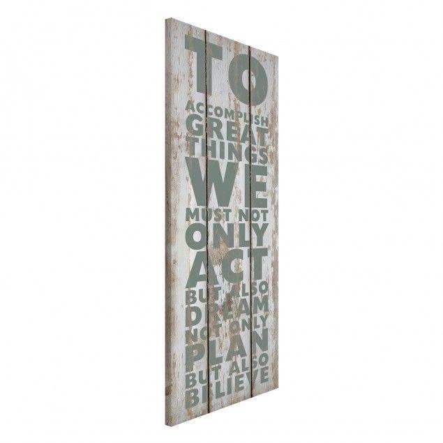 Magnettafel - NoRS179 Great Things - #Memoboard Hoch 78cm x 37cm - magnettafel für die küche